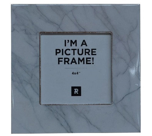 Marble Look Photo Frame White 16cm x 16cm - Photo Frame - The Bowery