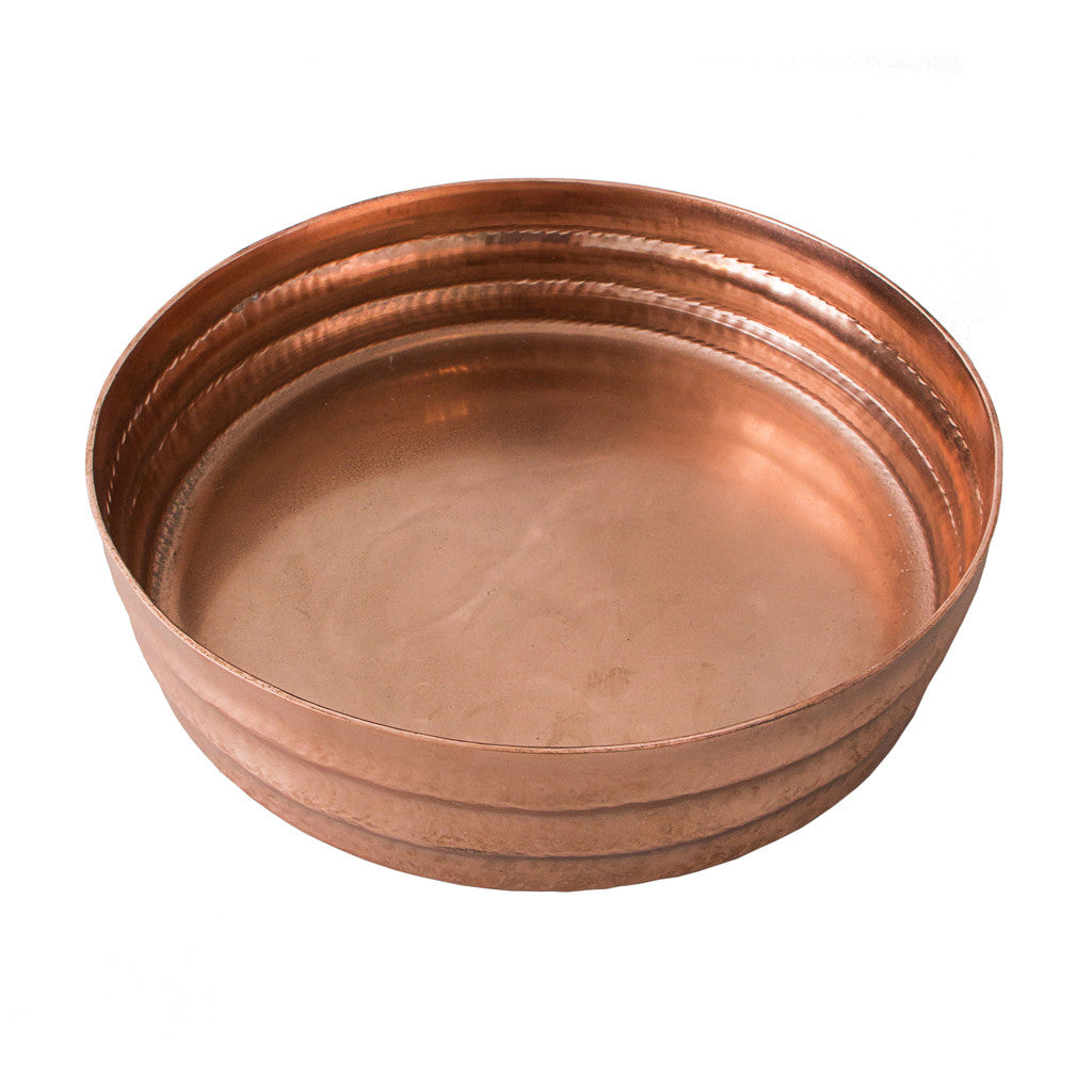 Rose Gold Ripple Round Tray, Medium - Tray - The Bowery