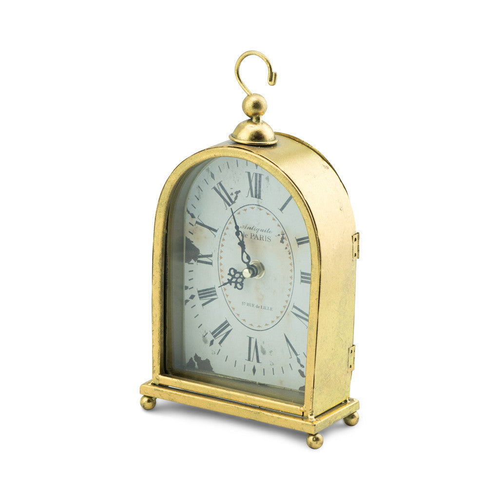 Sargood Gold Arched Mantle Clock - Table Clocks - The Bowery - 2