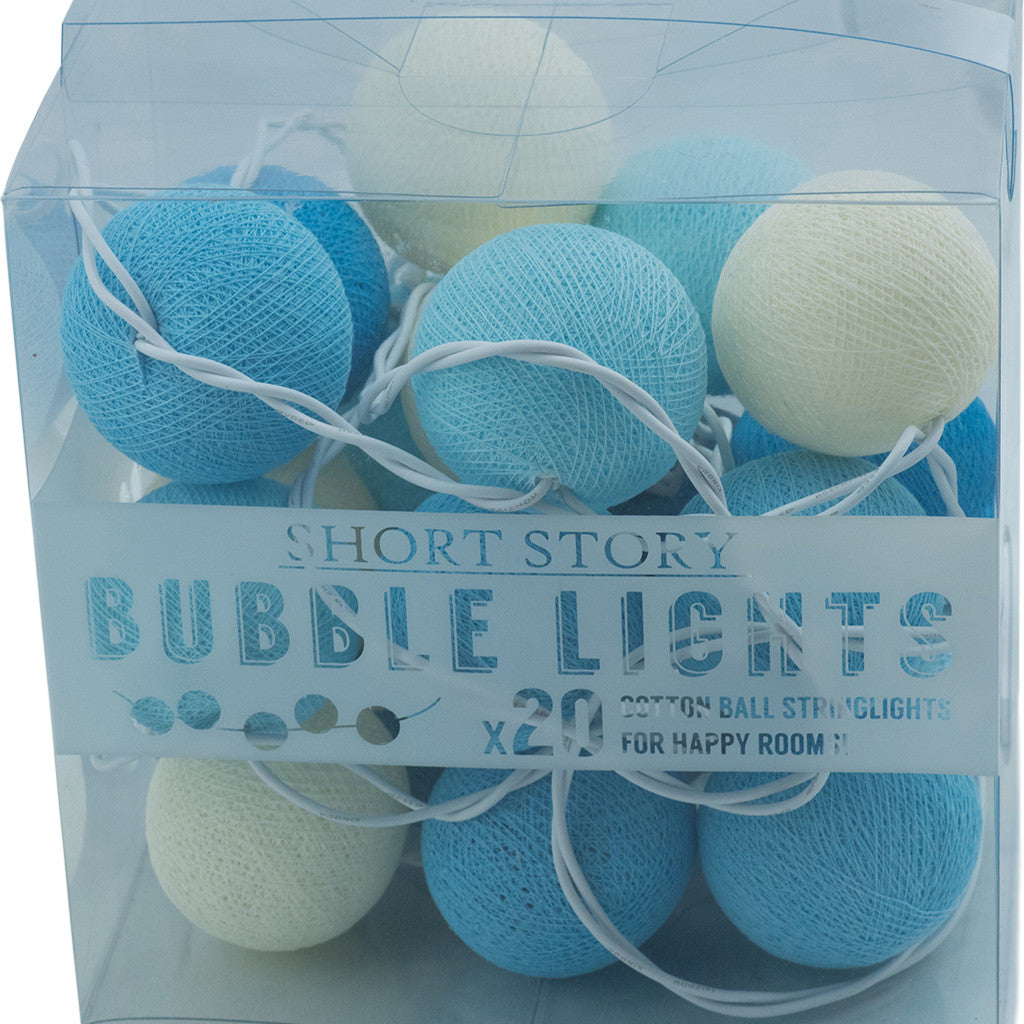 String Lights Cotton Ball Blue - String Lights - The Bowery - 3