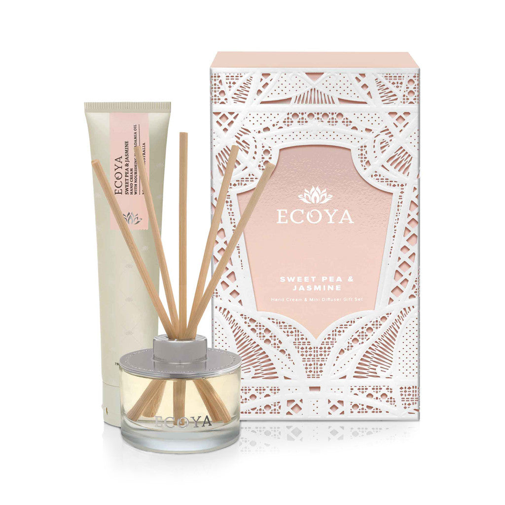 Sweet Pea and Jasmine Hand Cream & Reed Diffuser Small Gift Pack - Diffuser - The Bowery