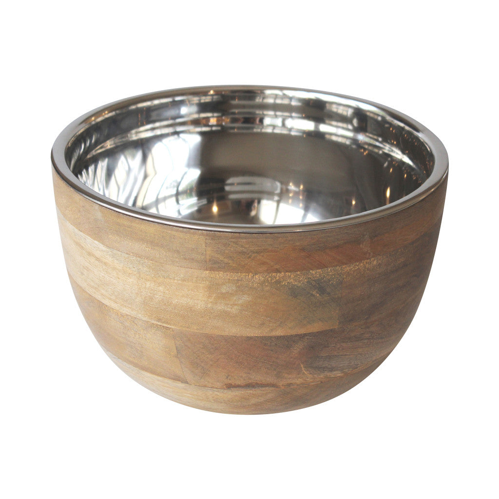 Timber Bowl with Stainless Steel Insert 14cm - Bowls - The Bowery