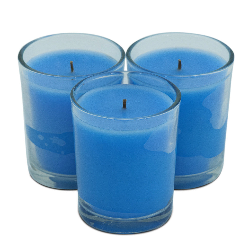 Trio Pack Lotus Flower & Topaz Water Scented Candle - Wax Candles - The Bowery - 3
