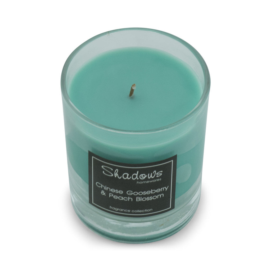 Tumbler Gooseberry & Peach Scented Candle - Wax Candles - The Bowery - 1