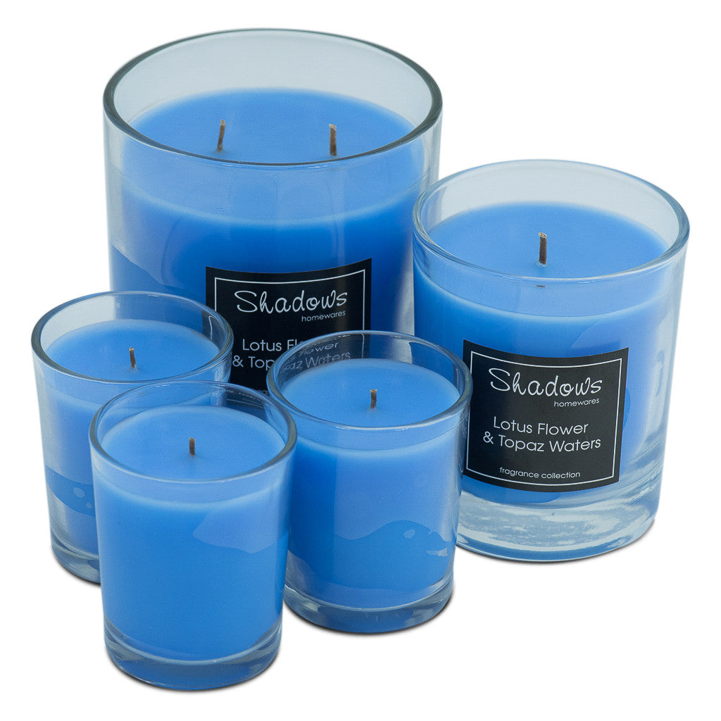 Trio Pack Lotus Flower & Topaz Water Scented Candle - Wax Candles - The Bowery - 6