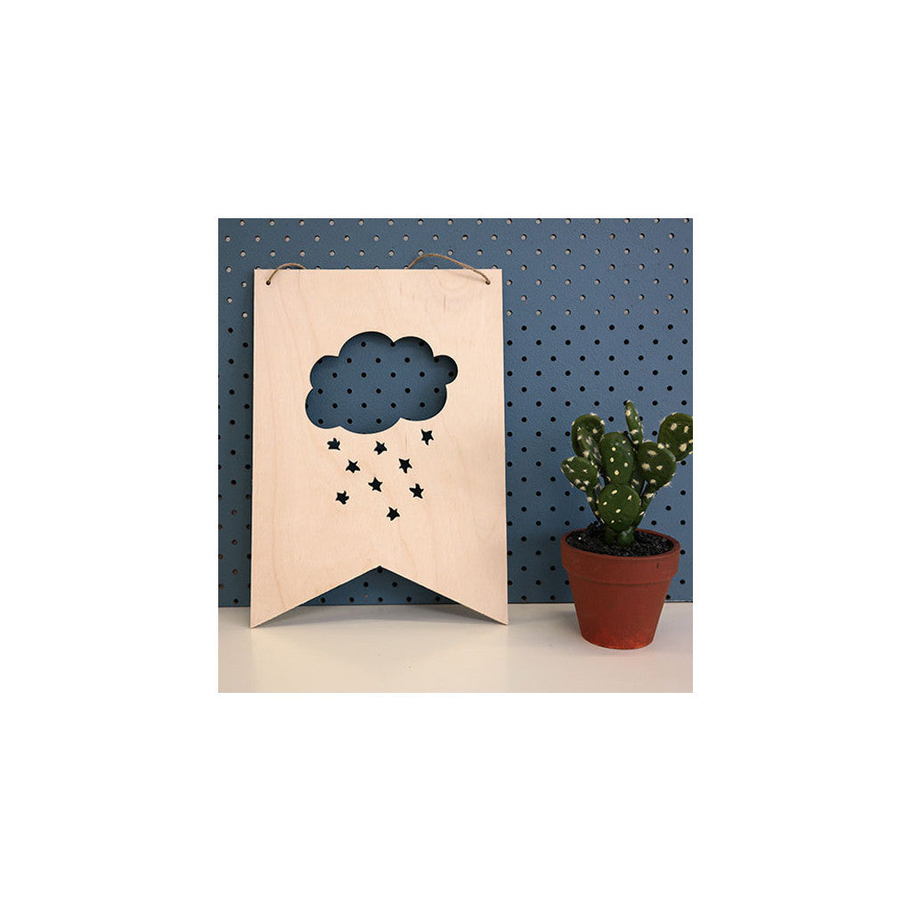 Wooden Plaque 'Cloud' 30cm x 21cm - Wall Quotes - The Bowery