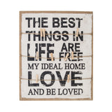 Affirmation Memo Board 'Love' 26cm x 3.2cm - Wall Quotes - The Bowery