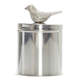 Camelot Silver Canisterw Bird on Lid, 18 cm - Cannisters - The Bowery