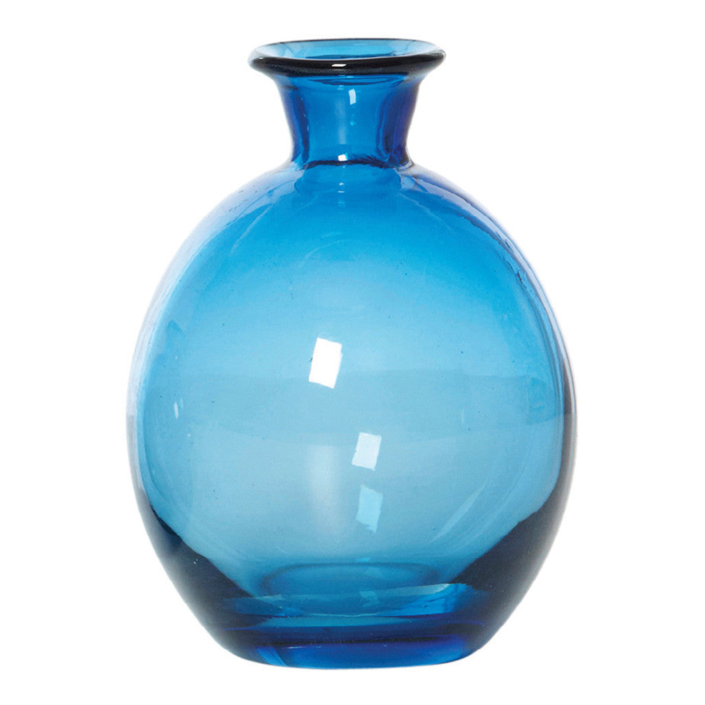 Chambers Ink Blue Glass Vase, 15 cm - Vase - The Bowery
