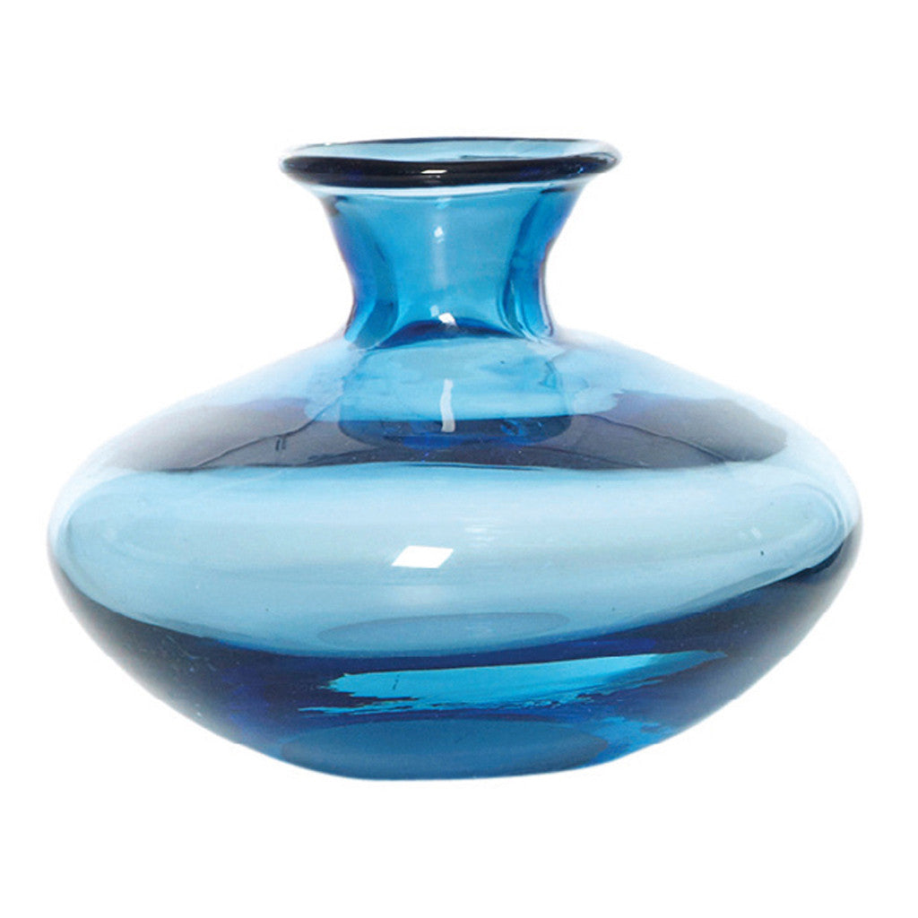 Chambers Ink Blue Glass Vase, 10 cm - Vase - The Bowery