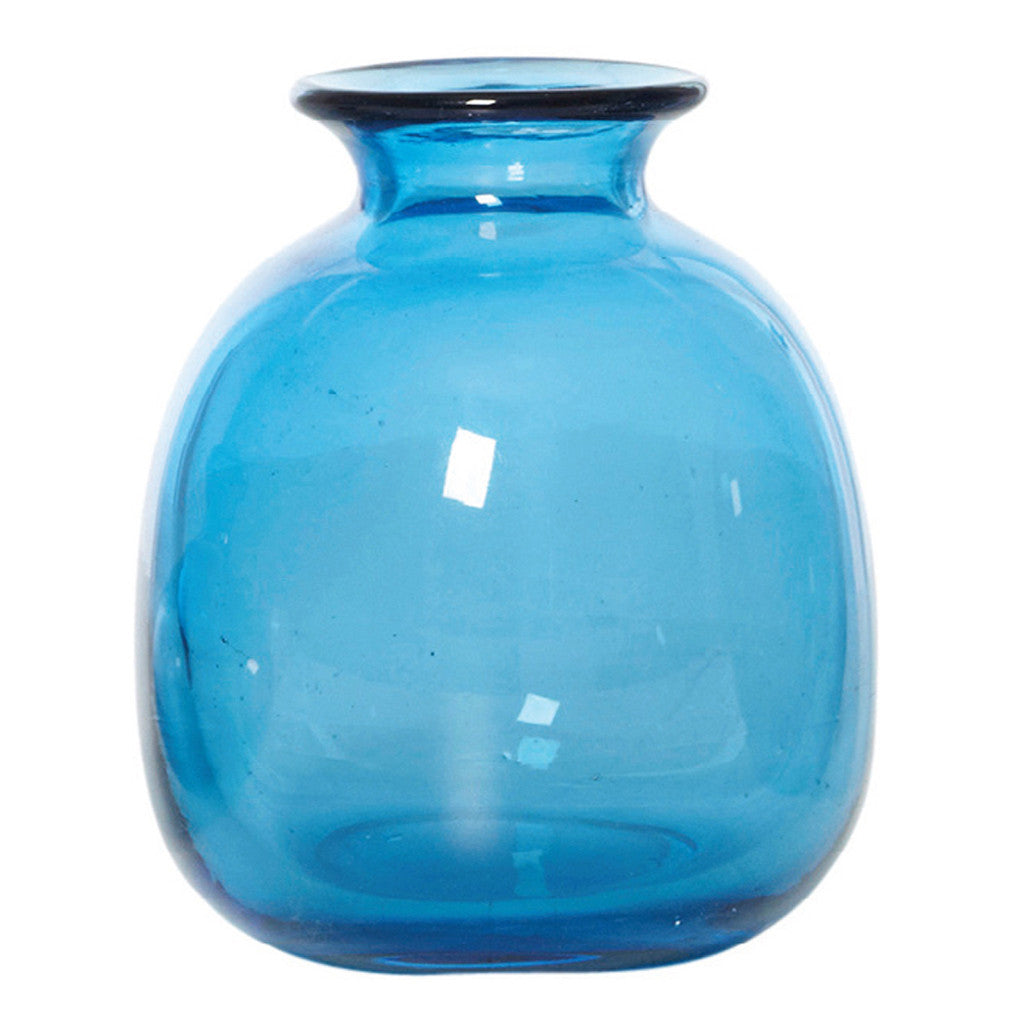 Chambers Ink Blue Glass Vase, 7 cm - Vase - The Bowery