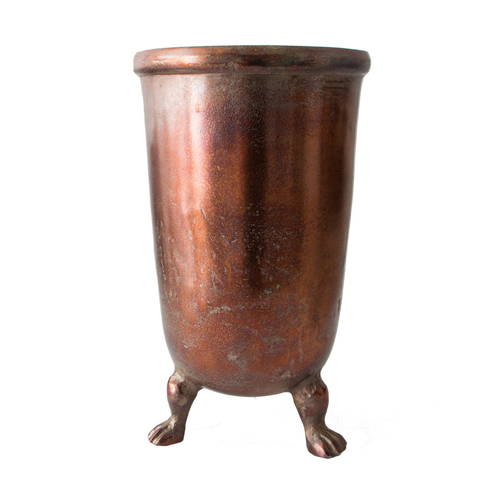 Copper Vase with Legs, Small 34.5 cm H - Vase - The Bowery