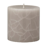 Crackle pillar Creamy Vanilla & Coconut Scented Candle, 7 x 7 cm - Wax Candles - The Bowery