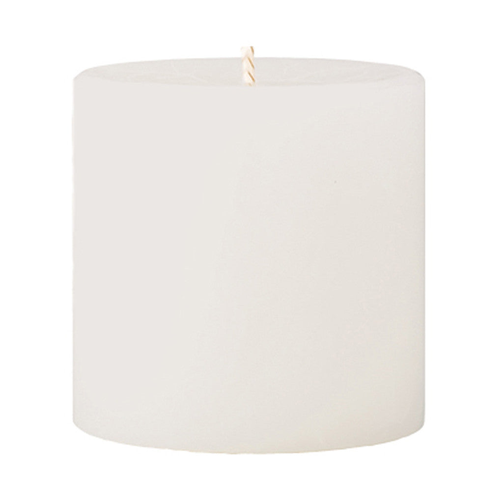 Crackle Pillar Fresh Cotton & Lavender Scented Candle, 7 x 7 cm - Wax Candles - The Bowery