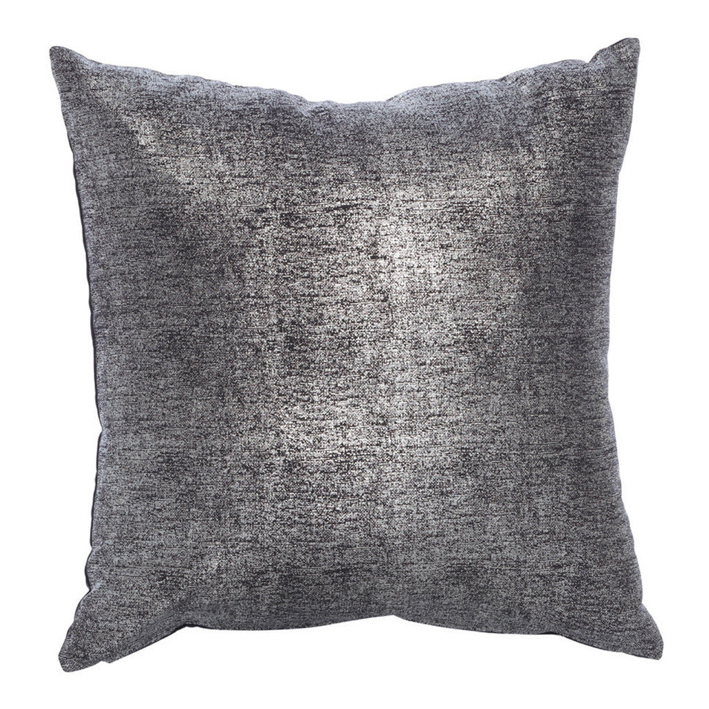 Cristal Grey Linen Cotton Square Cushion, 45 cm - Cushion - The Bowery