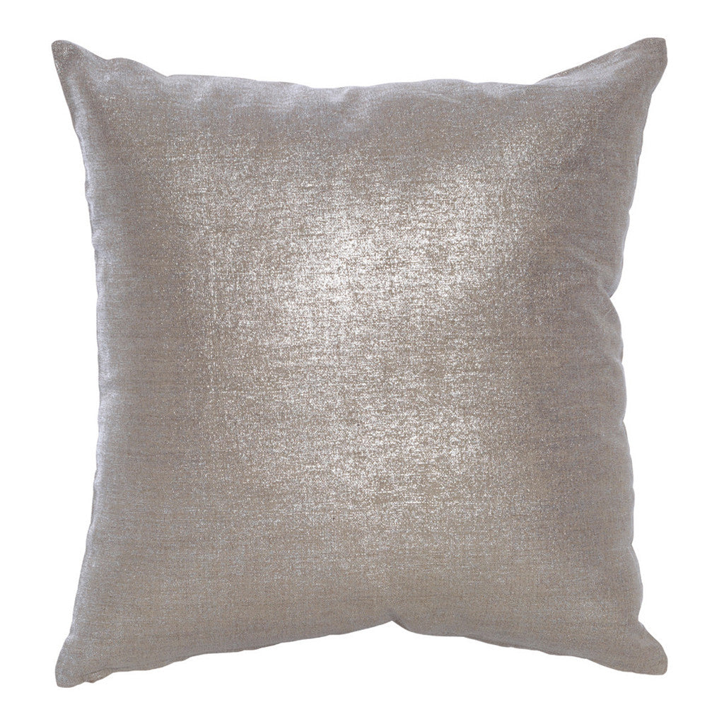 Cristal Silver Linen Cotton Square Cushion, 50 cm - Cushion - The Bowery