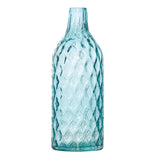 Dwyer Teal Glass Diamond Pattern, 40 cm - Vase - The Bowery - 2