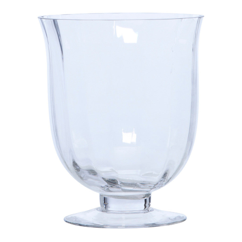 Glass Footed Vase, 25 cm - Vase - The Bowery