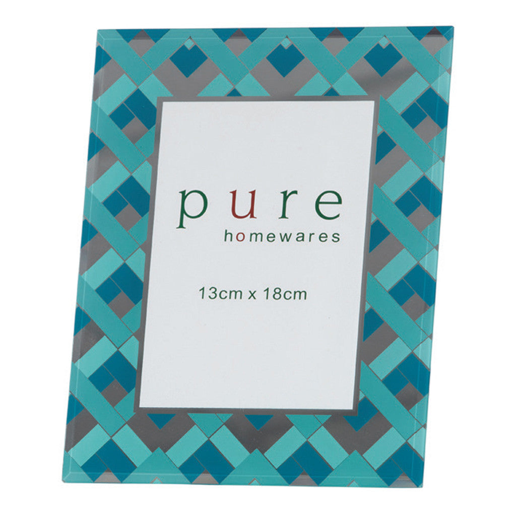 Fairview Mint & Teal Chevron Frame, 13 x 18 cm - Photo Frame - The Bowery