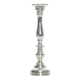 Flannigan Silver Matt Pillar Candle Stick, 35 cm - Votive Holder - The Bowery