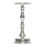 Flannigan Silver Matt Pillar Candle Stick, 27 cm - Votive Holder - The Bowery