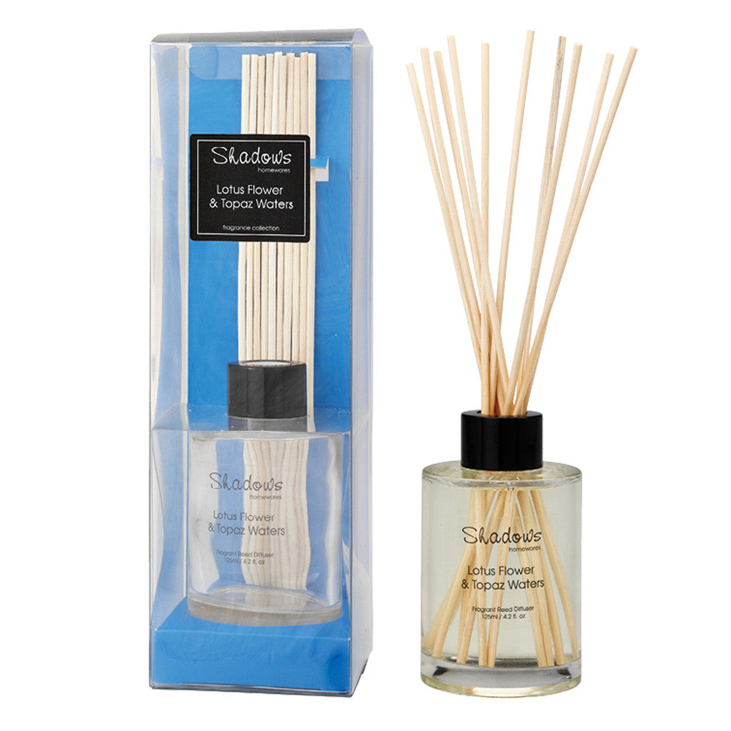 Fragrant Reed Diffuser  Lotus Flower & Topaz Water, 125 ml - Diffuser - The Bowery