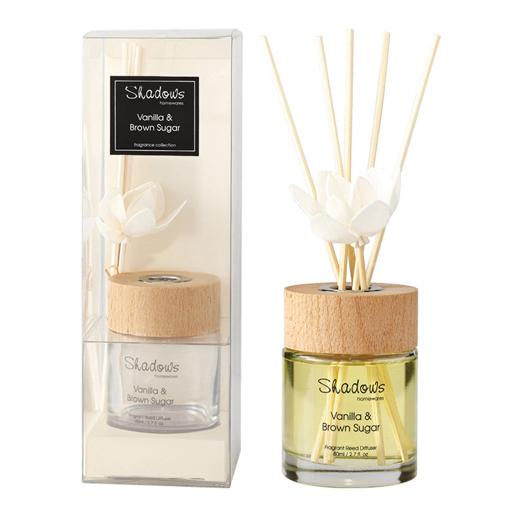 Fragrant Solar Flower Diffuser Vanilla & Brown Sugar, 80 ml - Diffuser - The Bowery