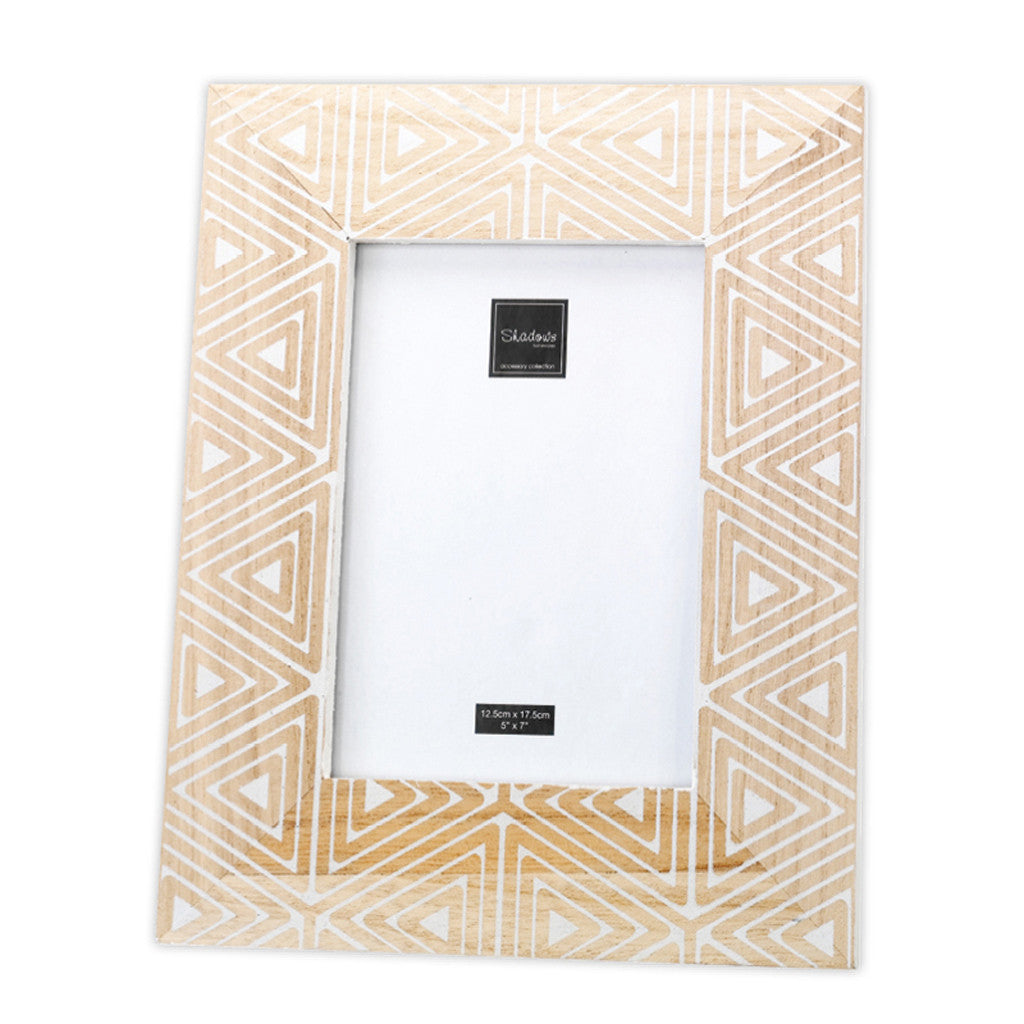 Wooden Photo Frame - Geometrisk 26.5cm x 21.5cm x 1.5cm - Photo Frame - The Bowery