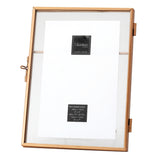 Henna Metal/Glass Photo Frame ,18cm x 13.5cm x 1cm - Photo Frame - The Bowery