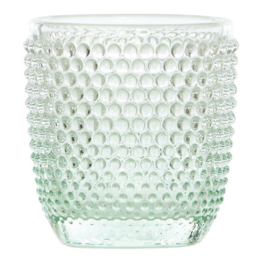 Higgins Glass Dot Mint Votive - Votive Holder - The Bowery