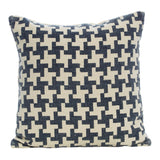 Holland Navy & White Square Cushion, 45 cm - Cushion - The Bowery
