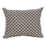 Hydra Natural Cotton Navy Star Rectangle Cushion 45 cm - Cushion - The Bowery