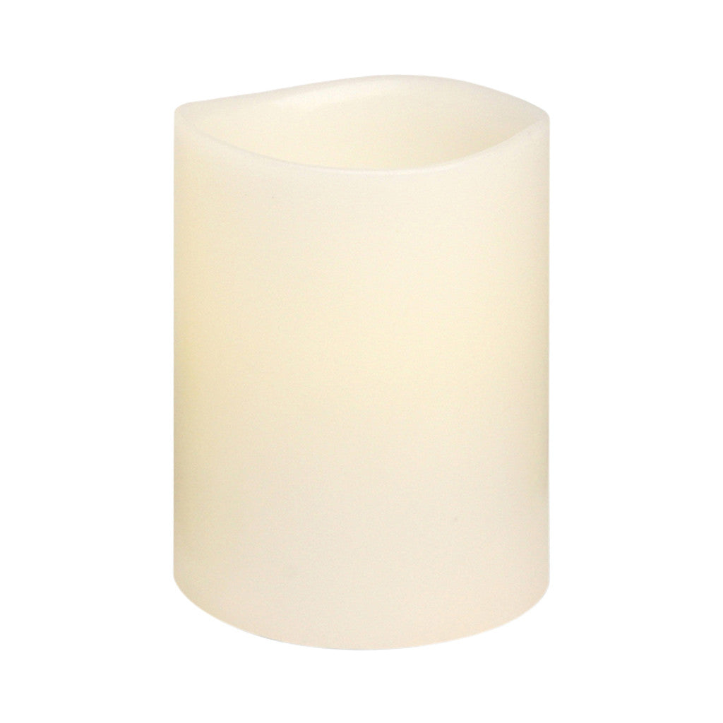 Ivory Smooth Wax LED Flameless Candle, 8 x 10 cm - Flameless Candle - The Bowery - 2