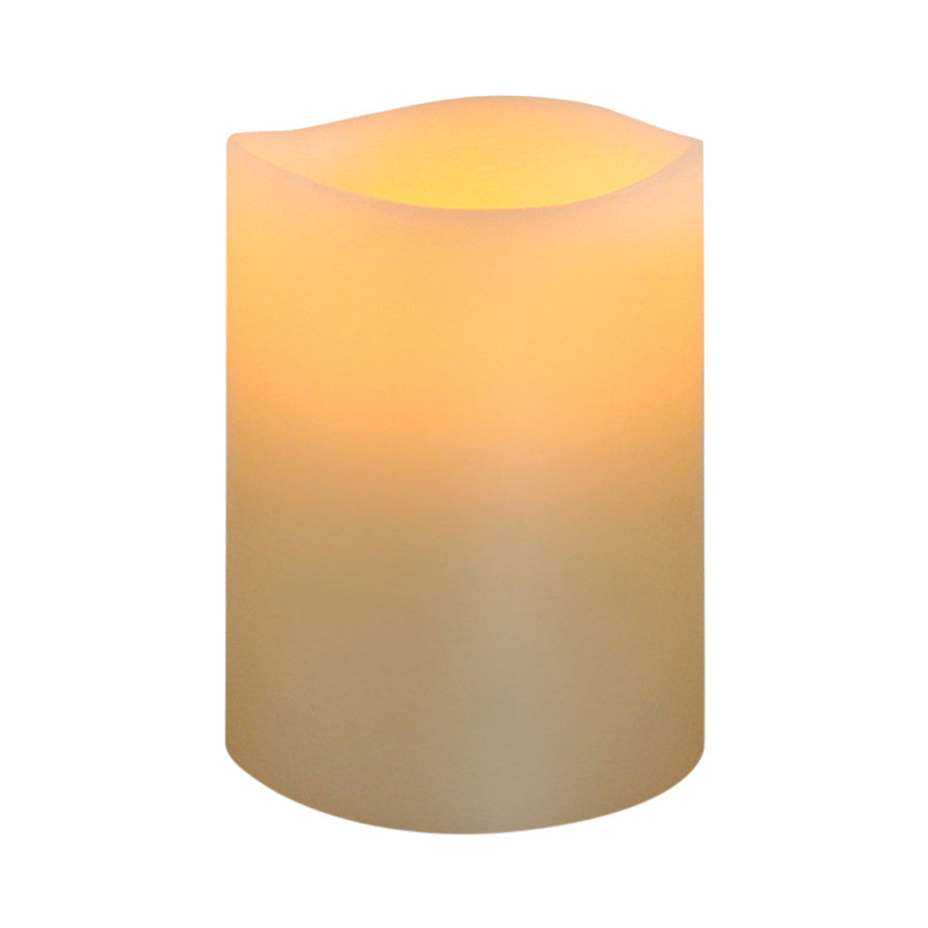 Ivory Smooth Wax LED Flameless Candle, 8 x 10 cm - Flameless Candle - The Bowery - 1