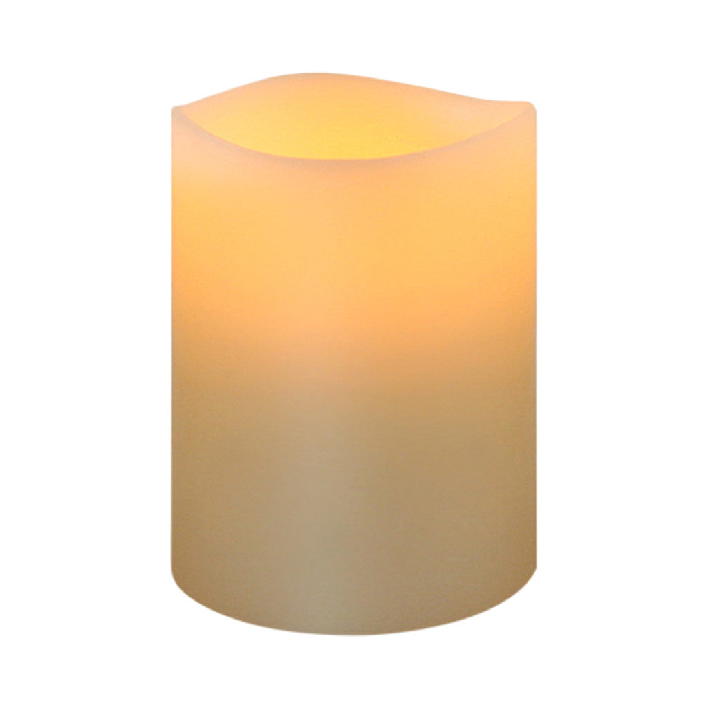 Ivory Smooth Wax LED Flameless Votive, 5 cm x 6 cm - Flameless Candle - The Bowery - 1
