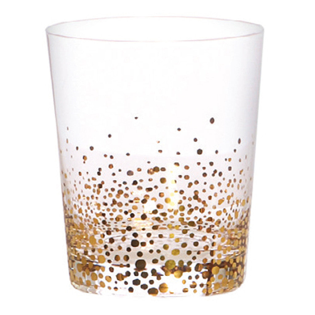 Kirby Gold Dots Glass Tumbler - Tumblers - The Bowery