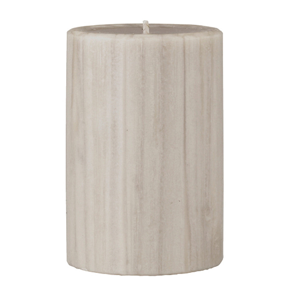 Marbled Pillar Creamy Vanilla & Coconut Scented Candle, 10 x 7 cm - Wax Candles - The Bowery