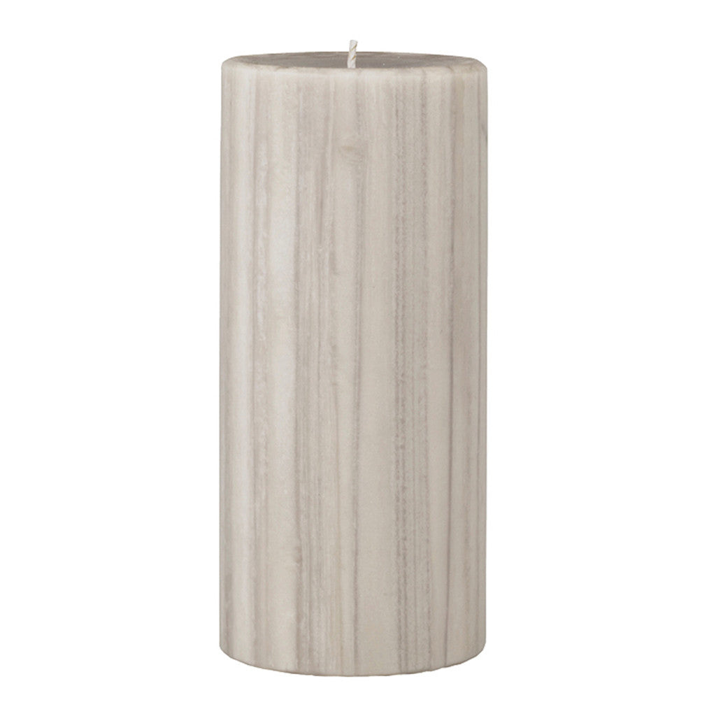 Marbled Pillar Creamy Vanilla & Coconut Scented Candle, 15 x 7 cm - Wax Candles - The Bowery