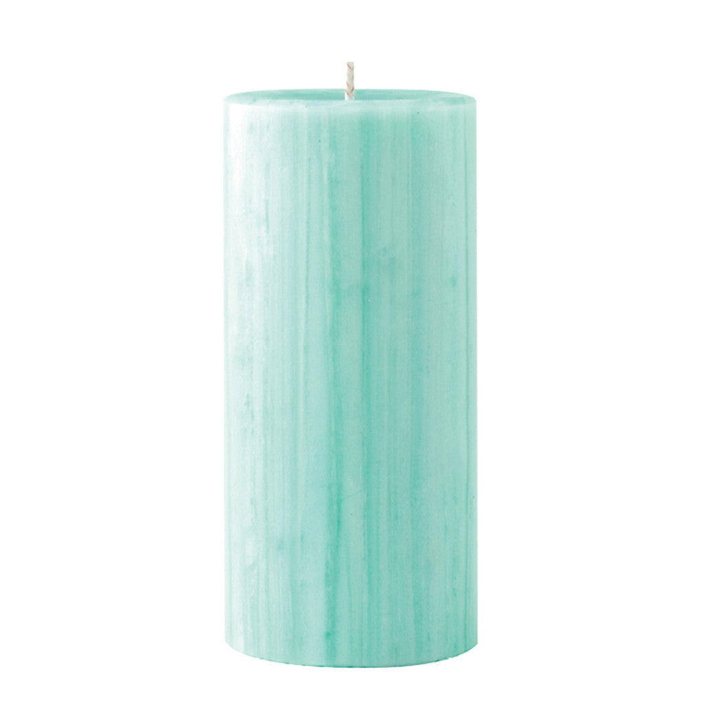 Marbled Pillar Gooseberry & Peach  Scented Candle, 15 x 7 cm - Wax Candles - The Bowery - 1