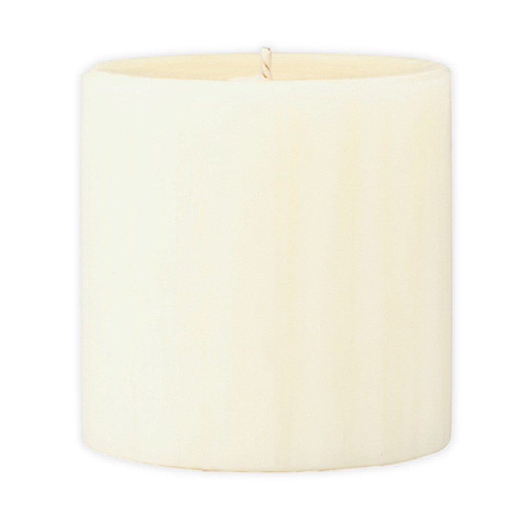 Marbled Pillar Vanilla & Brown Sugar  Scented Candle, 7 x 7 cm - Wax Candles - The Bowery