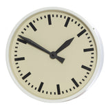 Mavis White Metal Round Wall Clock, 33 cm D - Wall Clocks - The Bowery - 1