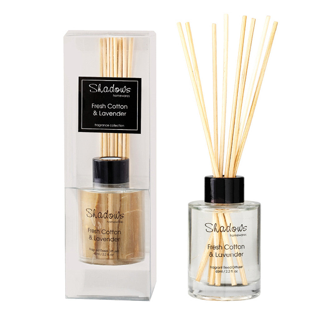 Mini Fragrant Reed Diffuser Fresh Cotton & Lavender, 65ml - Diffuser - The Bowery