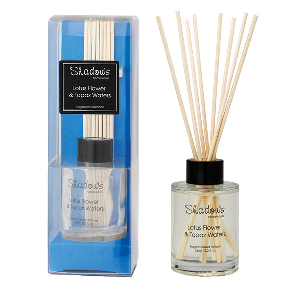 Mini Fragrant Reed Diffuser  Lotus Flower & Topaz Water, 65ml - Diffuser - The Bowery