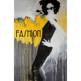 Framed Artwork 'Fashion Yellow' 91cm x 61cm - Framed Artwork - The Bowery
