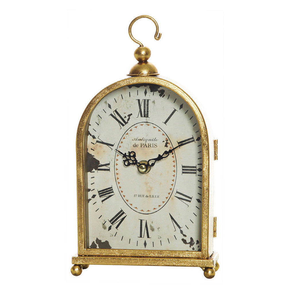 Sargood Gold Arched Mantle Clock - Table Clocks - The Bowery - 1