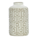 Scanlon Terracotta Grey White Urn Vase, 30 cm - Vase - The Bowery