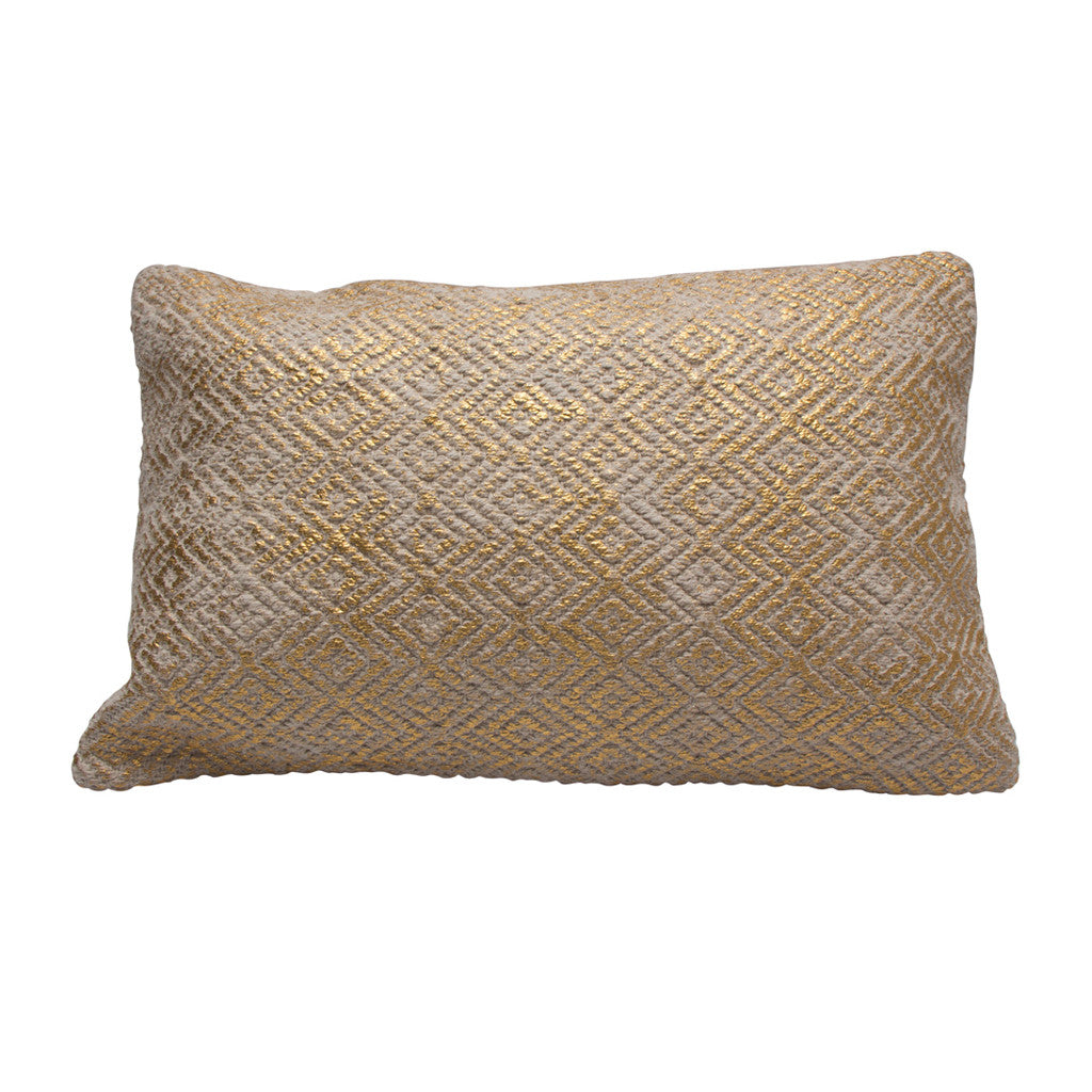 Texture Rectangle Gold Cloud Cushion - Cushion - The Bowery