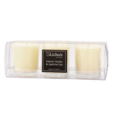 Trio Pack French Vanilla & Jasmine Tea Scented Candle - Wax Candles - The Bowery