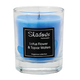 Tumbler Lotus Flower & Topaz Water Scented Candle - Wax Candles - The Bowery