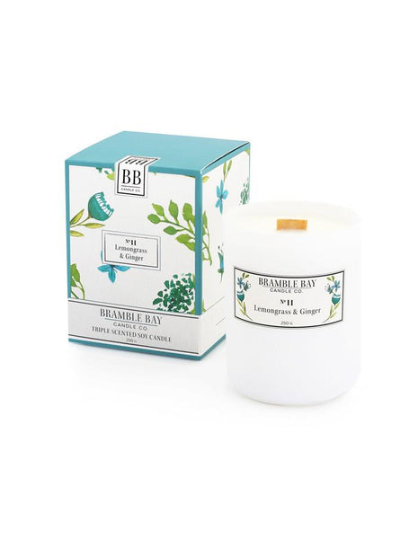 Bramble Bay No 11 Lemongrass & Ginger Scented Soy Candle